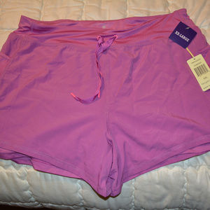 Tangerine workout shorts with pockets